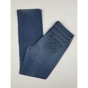 Michael Kors Size 10, 31 x 31.5 Jeans Embroidered